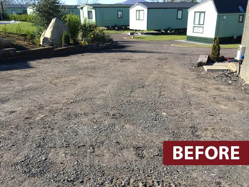 Caravan Park Resurfacing Before